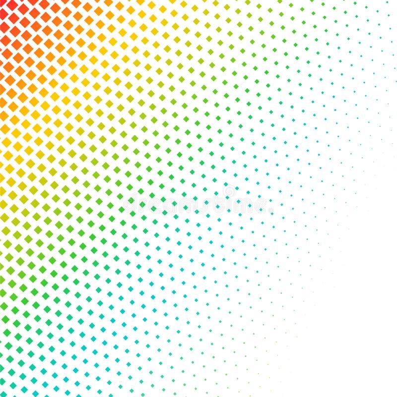 Reticulação colorida abstrata, fundo minimalistic dos pontos Contexto cômico do estilo, pop art de intervalo mínimo do inclinação ilustração stock