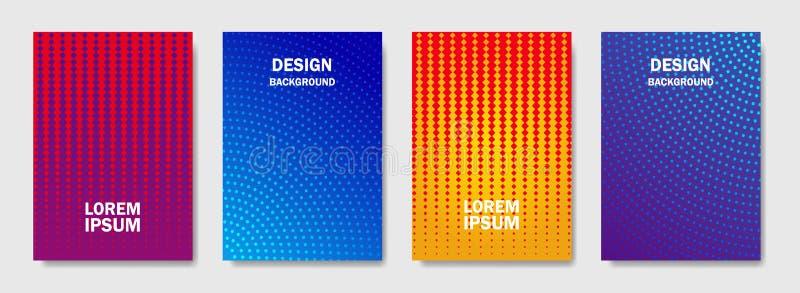 A reticulação colorida dá forma à tampa das disposições de página projeta Tampa mínima do projeto moderno com inclinações de inte ilustração do vetor