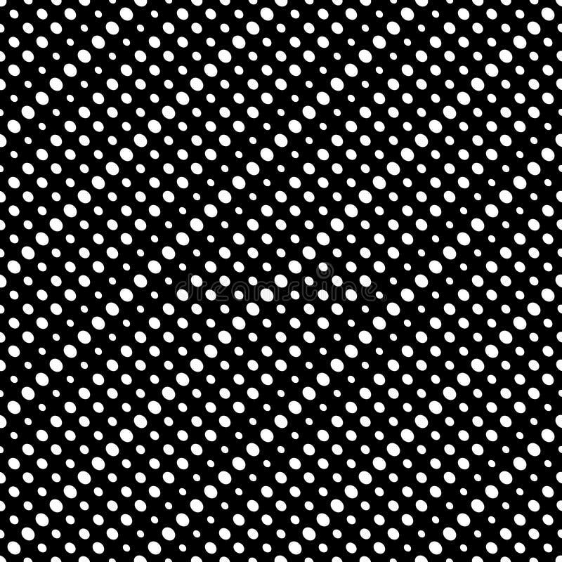 A reticulação diagonal pontilha o teste padrão sem emenda do vetor Textura dos círculos ilustração royalty free