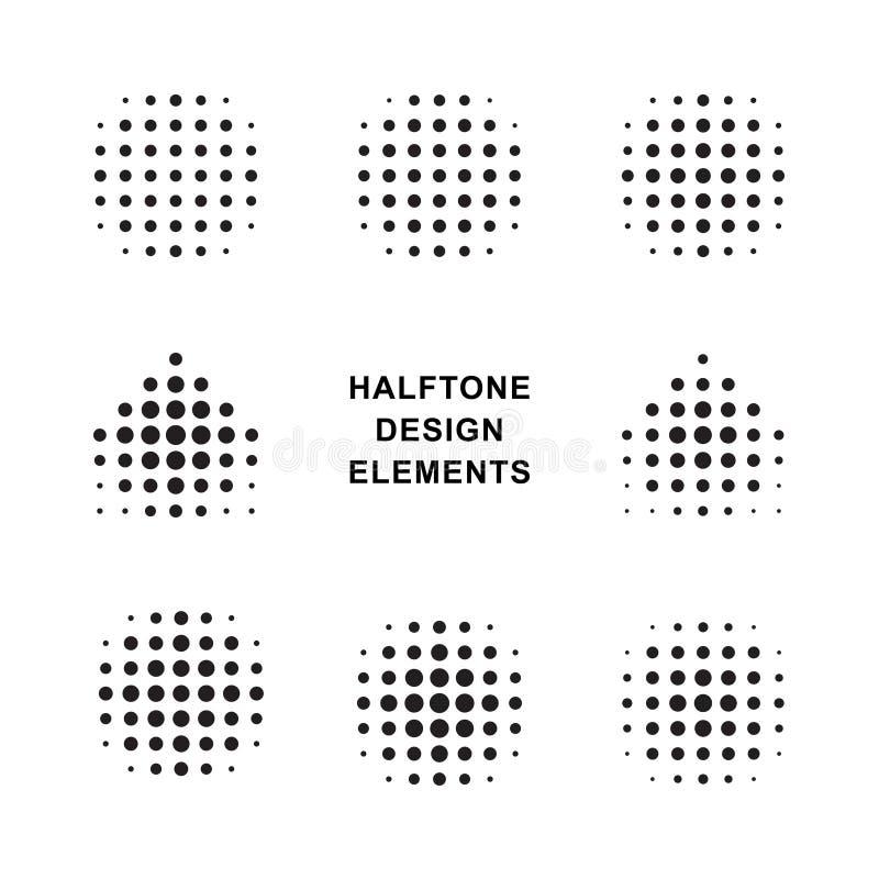 Reticulação Dots Logos do vetor ilustração royalty free