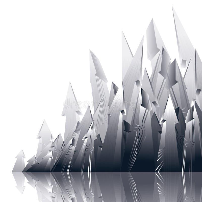 Reticulação reflexiva grupo visado listrado de setas ilustração stock