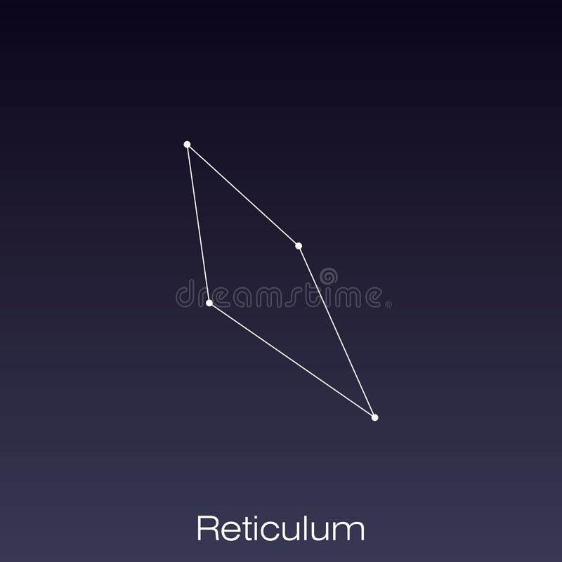 Constellation as it can be seen by the naked eye. Reticulum constellation as it can be seen by the naked eye vector illustration