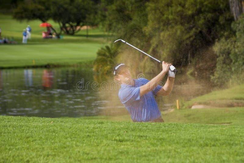 Retief Goosen - Sand Trap royalty free stock image