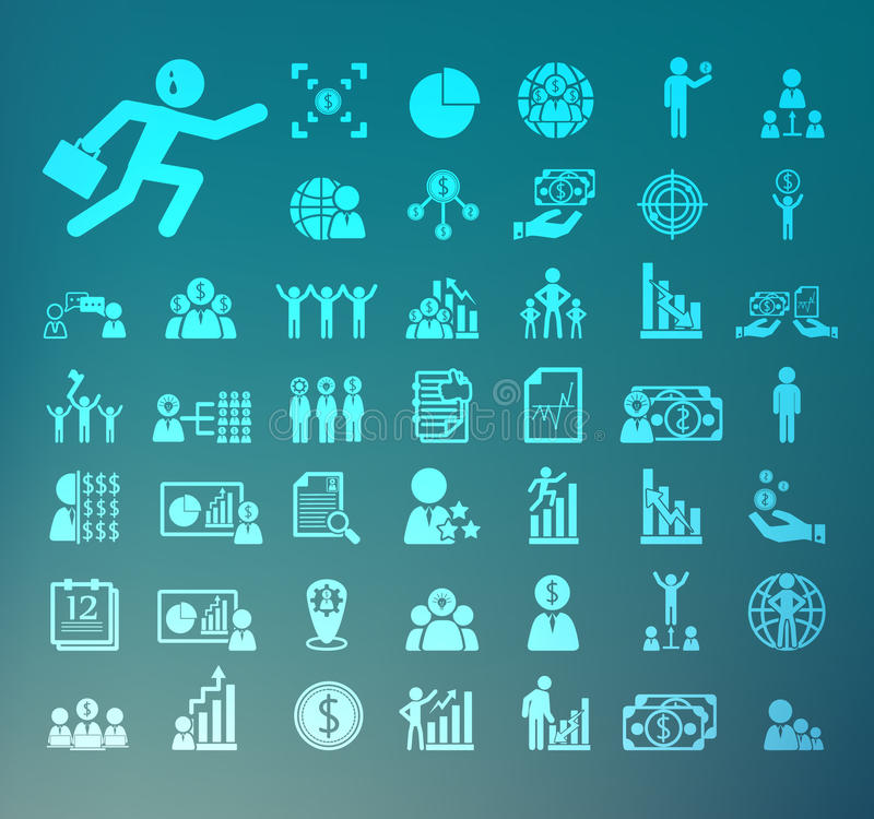 Retina delle icone della risorsa umana illustrazione di stock