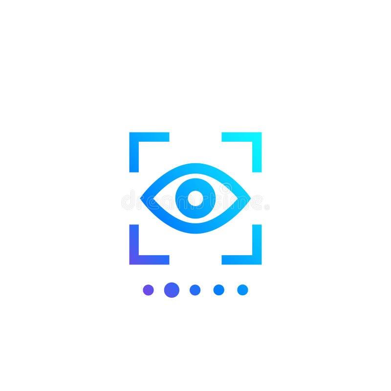 Retina scan, biometric recognition, eye scanner. Eps 10 file, easy to edit vector illustration