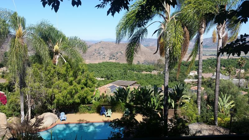 Retirada da piscina de Califórnia foto de stock royalty free