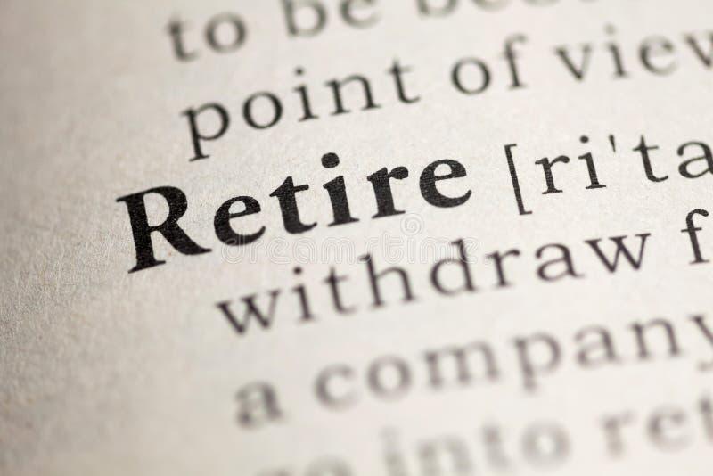 retire obraz stock