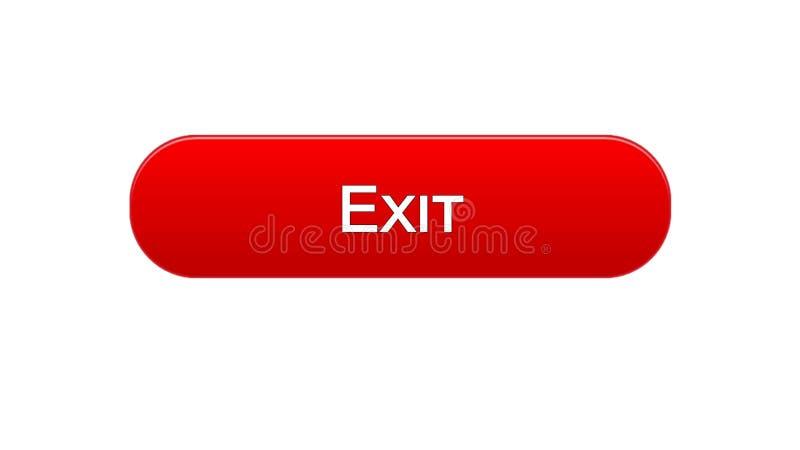 Retire a cor vermelha do botão da relação da Web, saída da aplicação, projeto do Internet ilustração royalty free