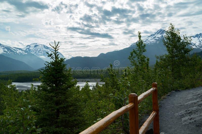 Retire a geleira em Seward, Alaska imagens de stock