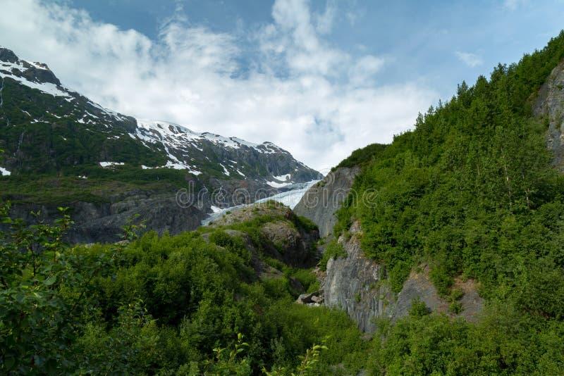 Retire a geleira em Seward, Alaska imagem de stock royalty free