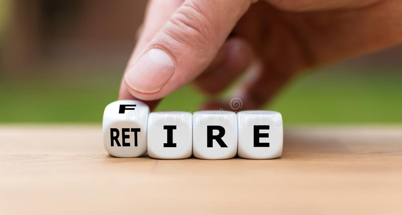 Retire or get fired. royalty free stock photo