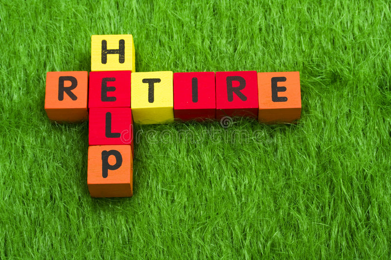 Download Retire and Help stock image. Image of copy, block, home - 5195733
