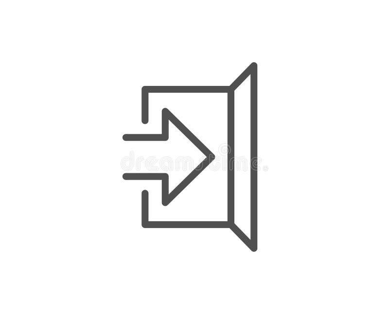 Retire a linha ícone Sinal do estar aberto ilustração do vetor