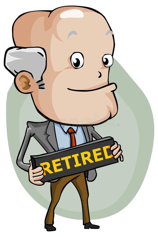 Retired. Detailed Business Cartoon Series. Feel free to browse other works royalty free illustration