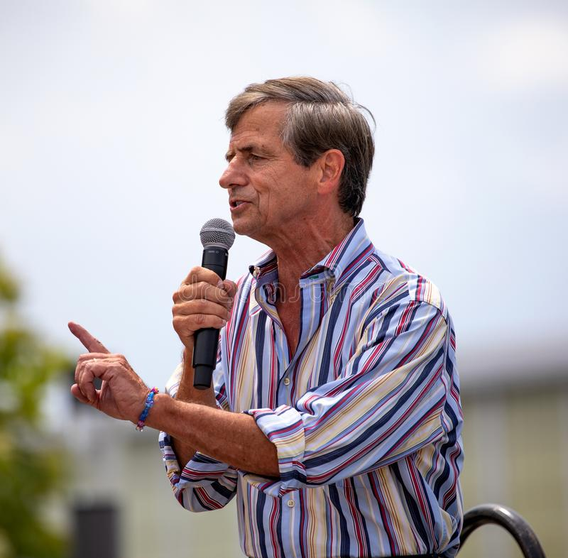 Retired Admiral and Democratic Presidential Candidate Joe Sestak stock photography