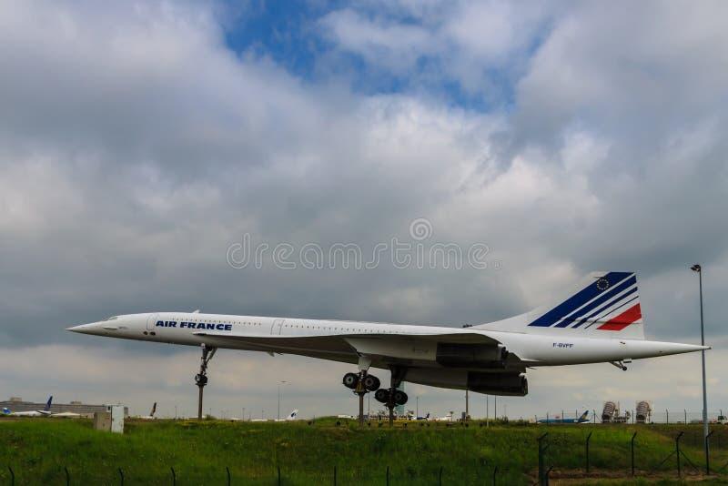 Retired Concorde stock photography