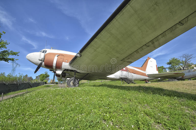 Retired Douglas DC-3 Dakota. View of a retired Douglas DC-3 Dakota stock photo