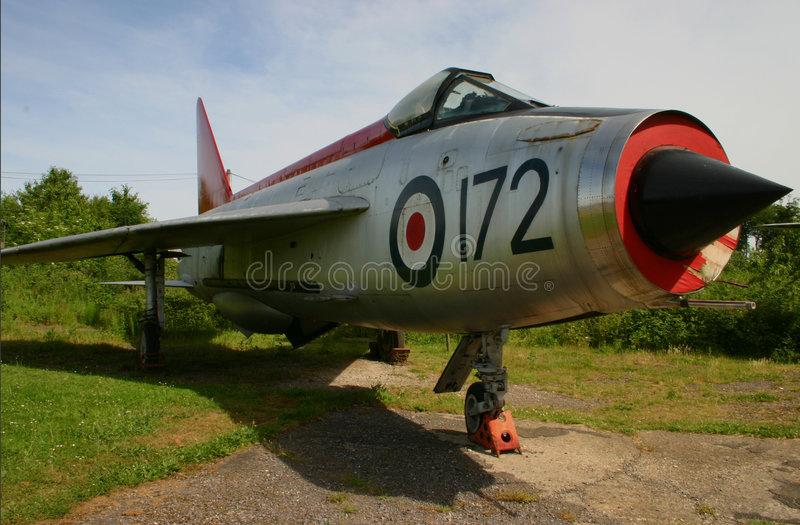 Retired Lightning F-1A Fighter Jet royalty free stock photo