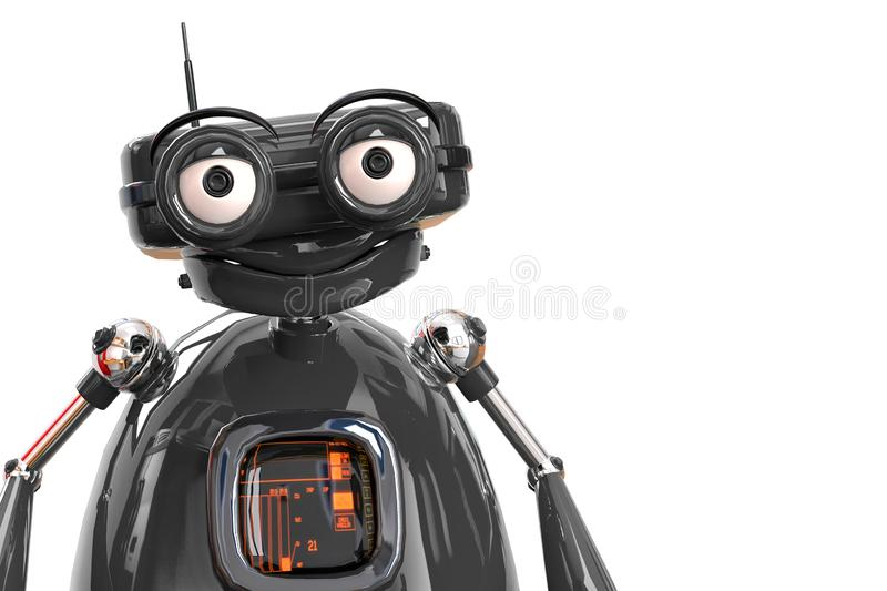 Retired old robot in a white bacground. This robot in clipping path is very useful for graphic design creations, 3d illustration stock illustration