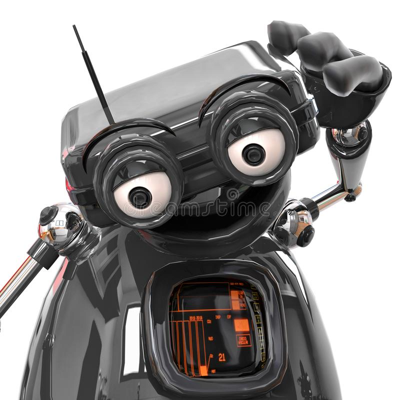 Retired old robot in a white bacground. This robot in clipping path is very useful for graphic design creations, 3d illustration vector illustration