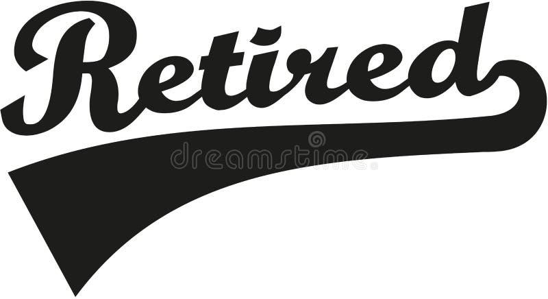 Retired retro font. Old senior vector vector illustration