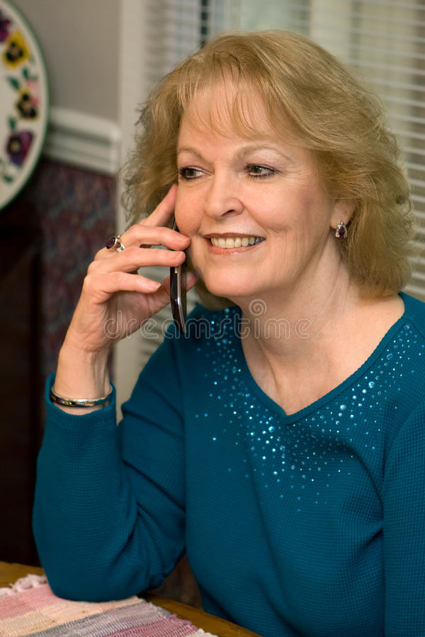Download Senior Talking Cellphone stock image. Image of retired - 29860185