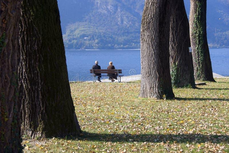 Retired senior couple leisure stock image