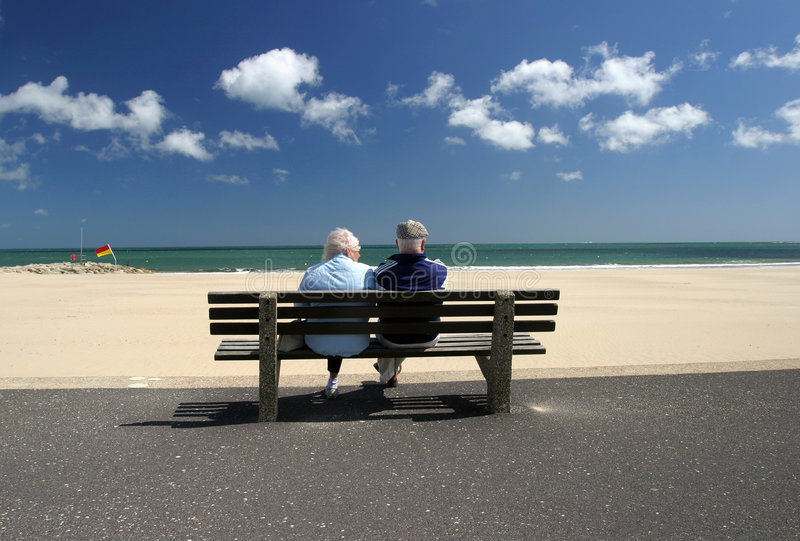 Retired Senior couple Relaxing stock photography