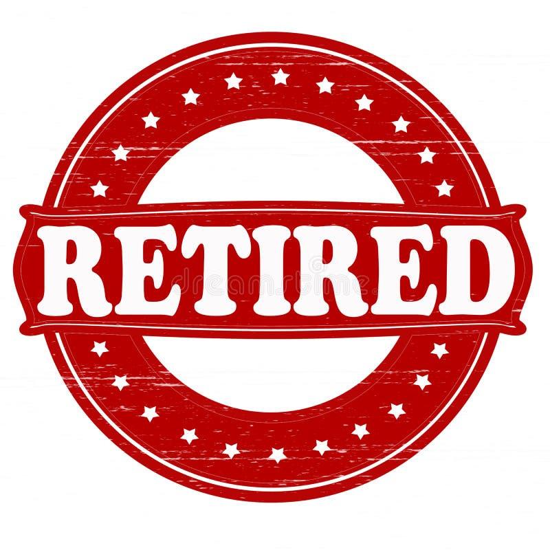 Retired. Stamp with word retired inside, illustration stock illustration