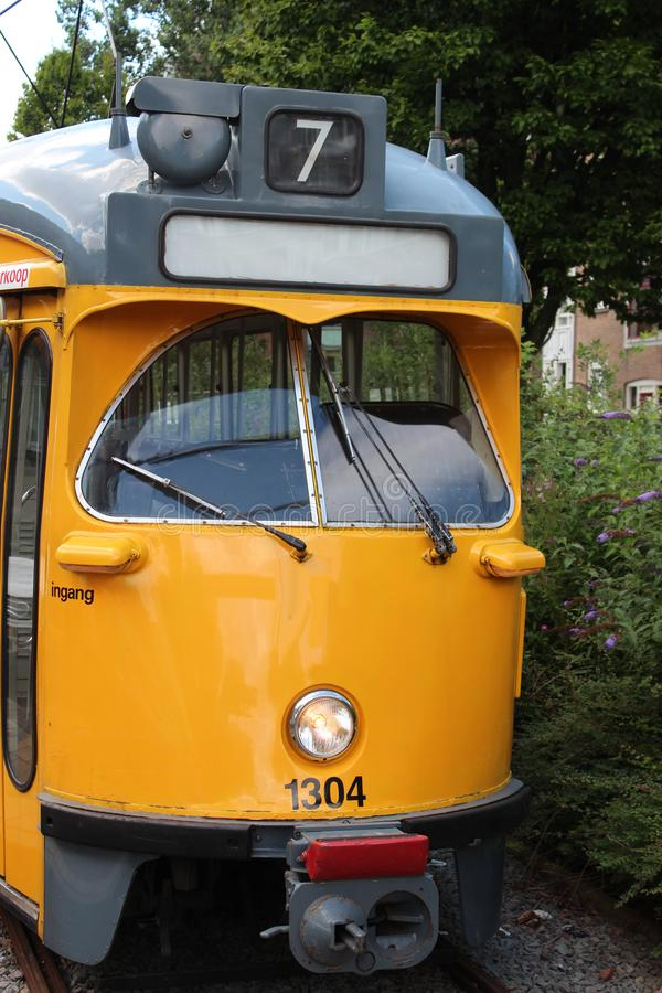 Retired tram car in The Hague, The Netherlands stock photography