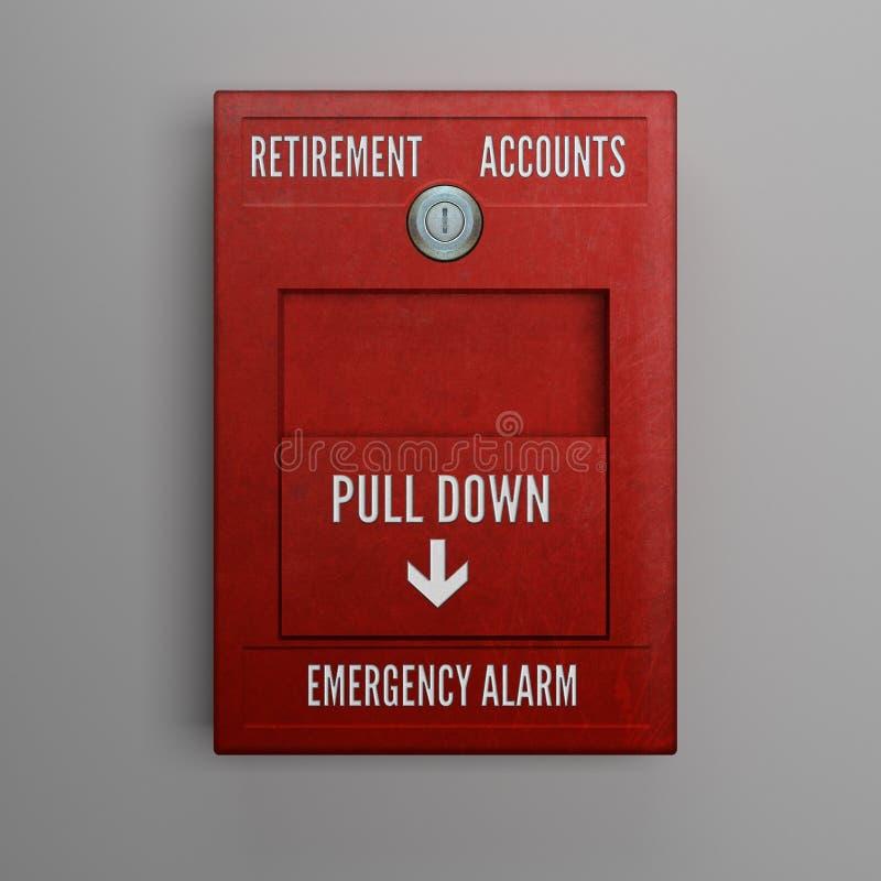 Retirement Accounts Alarm stock photo