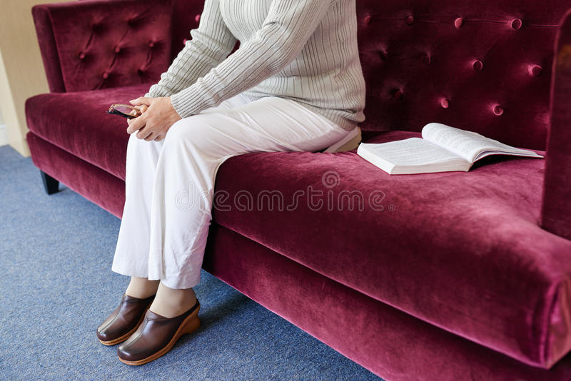 In retirement home stock image