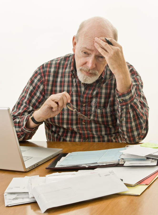 Retirement Money Worries stock photography