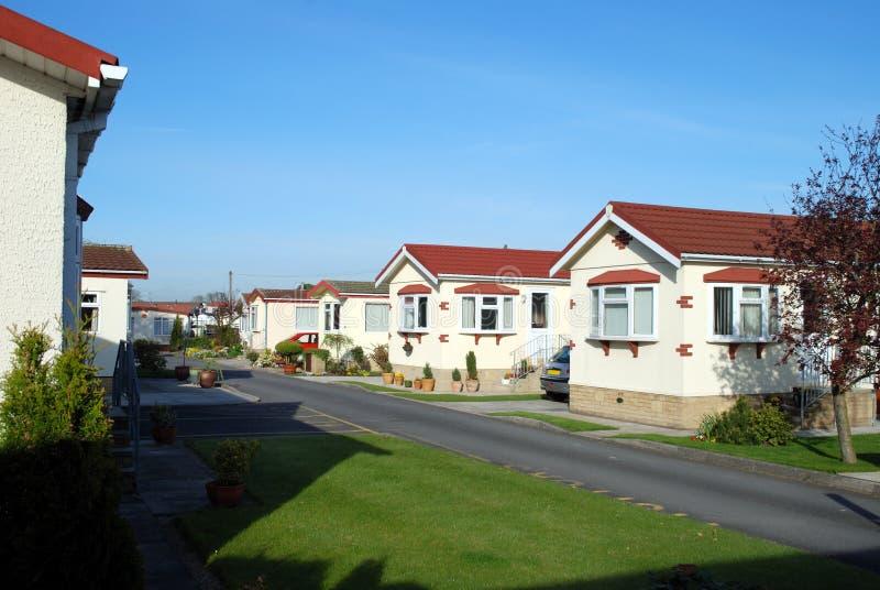 Retirement Park Homes Stock Image