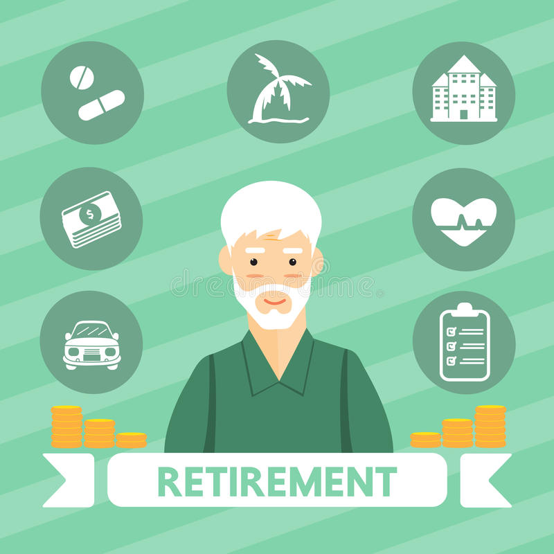 Retirement people royalty free illustration