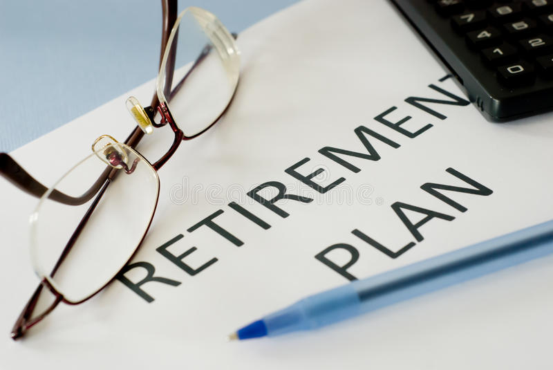 Retirement plan stock images