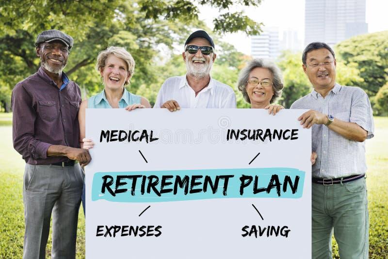 Retirement Plan Diagram Graphic Concept stock images