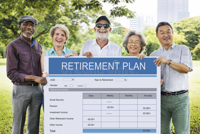Retirement Plan Form Investment Senior Adult Concept royalty free stock images