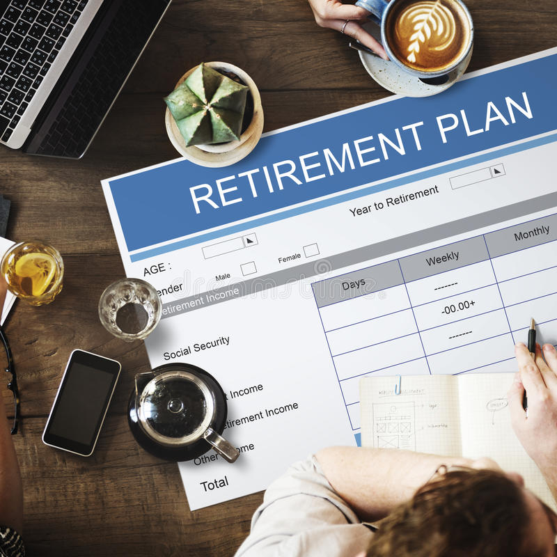 Retirement Plan Wealth Investment Seniority Concept stock images