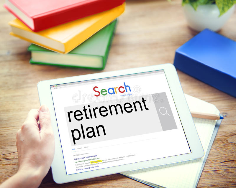Retirement Plan Wealth Worth Security Management Concept stock photos