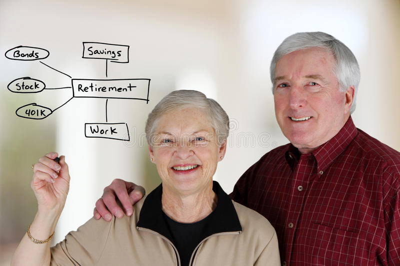 Retirement Planning. A married couple planning their retirement life stock photo
