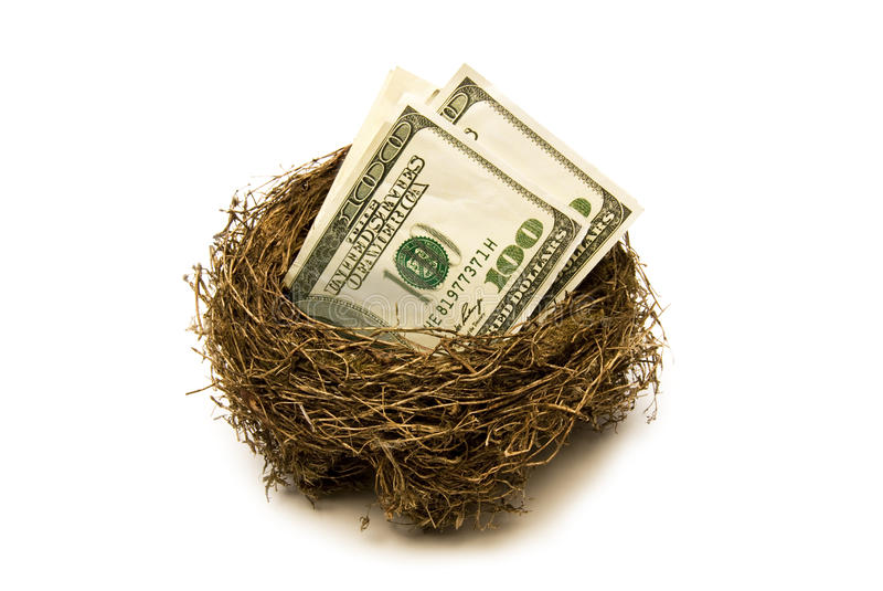 Retirement Savings Nest Stock Photography