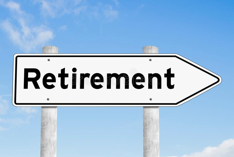 Download Retirement Signpost Direction Sky Stock Photo - Image of motivation, shape: 109528934