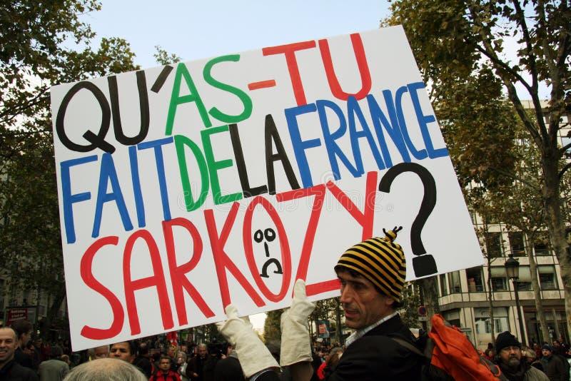 Retirement Strike In Paris Editorial Stock Photo