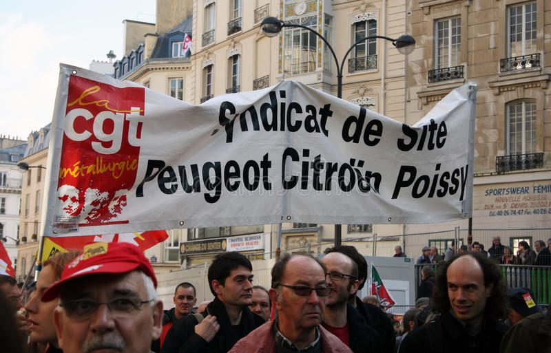 Download Retirement strike in Paris editorial image. Image of syndicate - 16709840