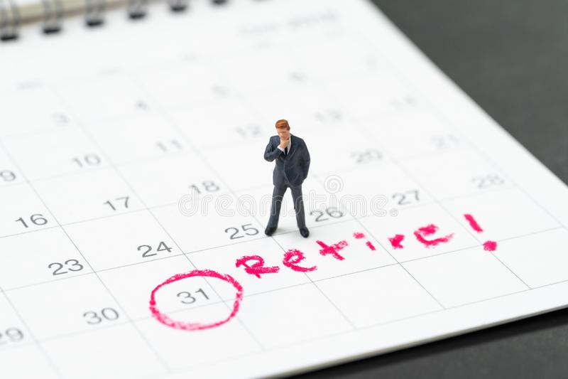 Retirement target or planning to quit job or financial freedom stock photography