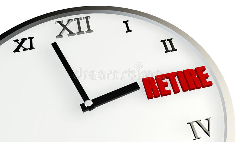 Retirement Time Stock Image