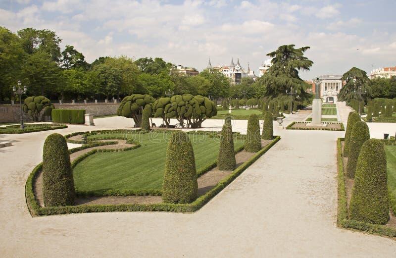 retiro Ισπανία πάρκων της Μαδρίτη&sig στοκ εικόνα με δικαίωμα ελεύθερης χρήσης