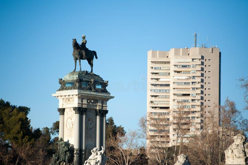 Retiro Madrid di Parque de Buen fotografia stock libera da diritti