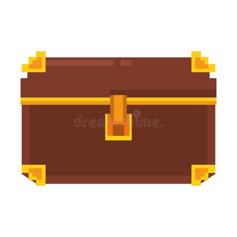 Retor videogame chest pixelated cartoon. Vector illustration graphic design vector illustration